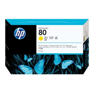 HP 80 Yellow Ink Print Cartridge C4873A