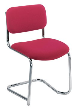 MEETING CANTILEVER CHROME FRAME STACKING CHAIR STACKS UP TO 4 HIGH CHARCOAL FABRIC