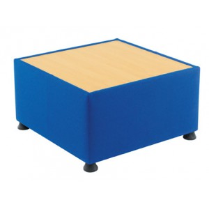 GLACIER TABLE WITH BEECH WOOD TOP CHARCOAL FABRIC