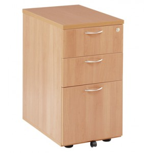 ESSENTIALS UNDERDESK PEDESTAL  OAK