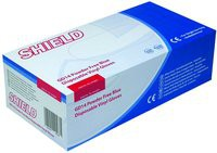 Shield Powder-Free Vinyl Gloves Blue Small Pack of 100 GD14