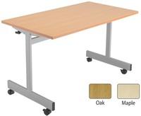 Jemini 1600mm Flip Top Table Oak