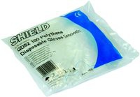 Shield Polyethylene Gloves in Bags Medium Pack of 100 Clear GD52 ESS07
