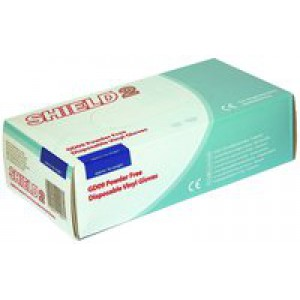 Powder-Free Vinyl Gloves Medium Pack of 100 Clear GD09 820453 (082602) O7 (NST) CVD19