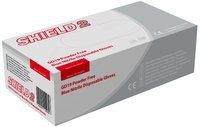 *Shield Powder-Free Nitrile Gloves Blue Large Pack of 100 GD19 (J7)