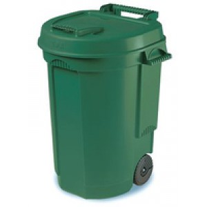 Mobile Dustbin 110 Litre Green 383420