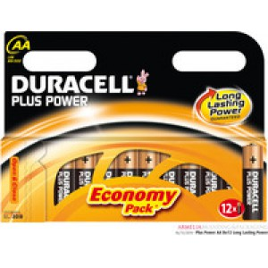 Duracell Plus Battery AA Pack of 12 81275378 (416113)
