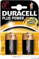 Duracell Plus Battery C Pack of 2 81275429 (089019)