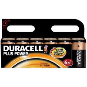 Duracell Plus Battery C Pack of 6 81275434 (416121)