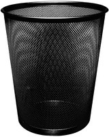 Q-Connect Mesh Waste Basket Black