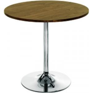 Arista Small Bistro Trumpet Table Walnut/Chrome KF838318