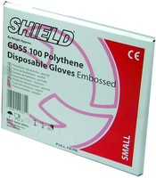 Shield Embossed Gloves Large Pack of 100 GD55 ESS07