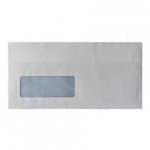 Envelope DL Press Seal Wallet Window 80g White [Pack 1000]