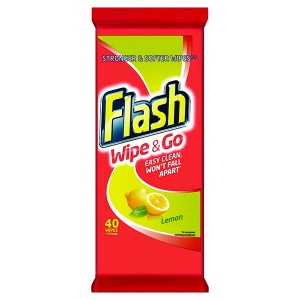 Flash Wipe and Go Lemon Wipes Pack of 48 5410076791750