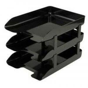 *Q Connect Executive Letter Tray Black KF05555 (908005)