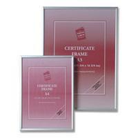 Photo Album Company Certificate Frame Brushed Aluminium A2 PAAFA2B
