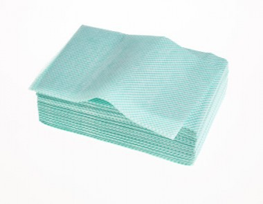 Lightweight Cloth 1/4 Fold Green Pack 100 Ref: 08042G