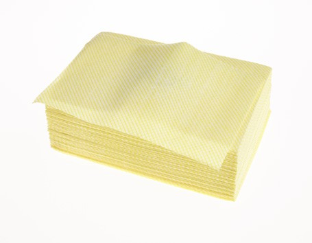 Lightweight Cloth 1/4 Fold Yellow Pack 100 Ref: 08042Y