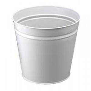 Q Metal Waste Bin 15 Litre Round Grey KF12011 (903695)