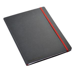 Black n Red A4 Hard Cover Notebook