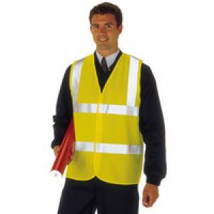 High Visibility 2-Band Waistcoat Yellow Medium (WGYC)