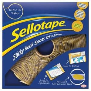 Sellotape Hook Spots 125 Removable