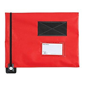 A3 Flat Mail Pouch 355x470mm Red