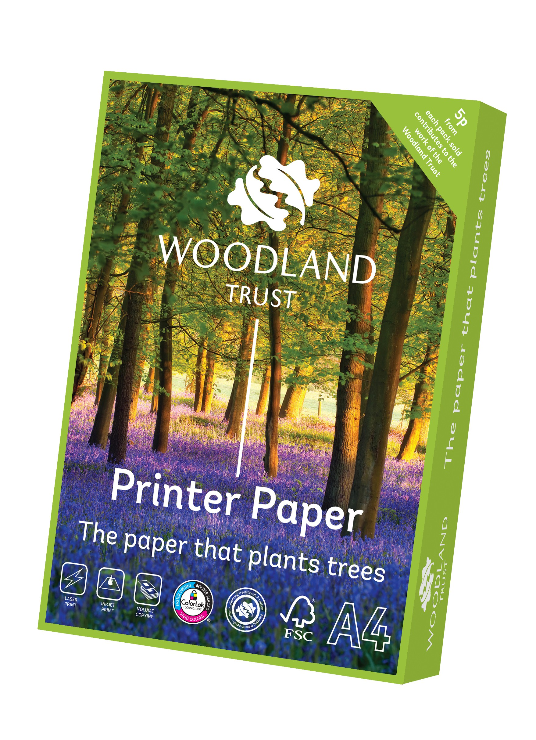 Woodland Trust A4 Office Paper (Box of 2,500 sheets)