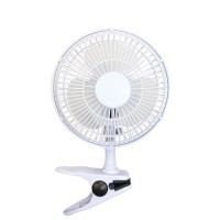Image for 5 Star Facilities Clip-On Fan 6 Inch with Tilt for Desk or Shelf 2-Speed 1.25-1.3m Cable Dia.152mm White
