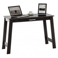 Home Office Cinnamon Cherry Effect Trestle Desk With Stationery Drawer