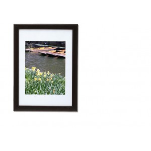 5 Star Facilities Snap Picture or Certificate Frame Polystyrene Front Back-loading A4 241x12x331mm Black