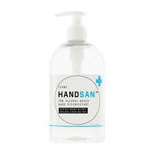 Handsan Instant Sanitizer With Moisturiser Alcohol 500ml Pump