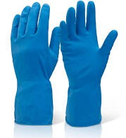 Rubber Gloves Medium (Pair) Blue