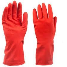 Rubber Gloves Medium (Pair) Red