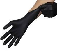 Black Nitrile Powder-Free Gloves Small Pk100