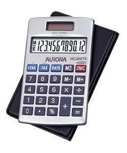 Aurora HC208TX Handheld Calculator