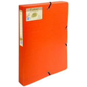Image for Forever Box File Elastic Closure A4 40mm PP Orange PK8