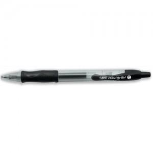 Bic Gelocity Black Gel Pen Retract Pk12