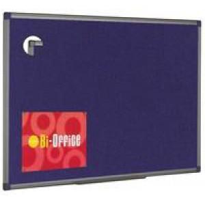 Bi-Office Felt Board 900x600mm Blue Aluminium Finish FB0743186