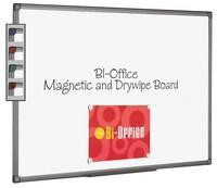 Bi-Office Magnetic Whiteboard 600x900mm Aluminium Finish MB0706186