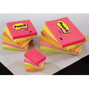 3M Post-it Notes Warm Neon Rainbow Pack of 6 76x76mm 654-TF