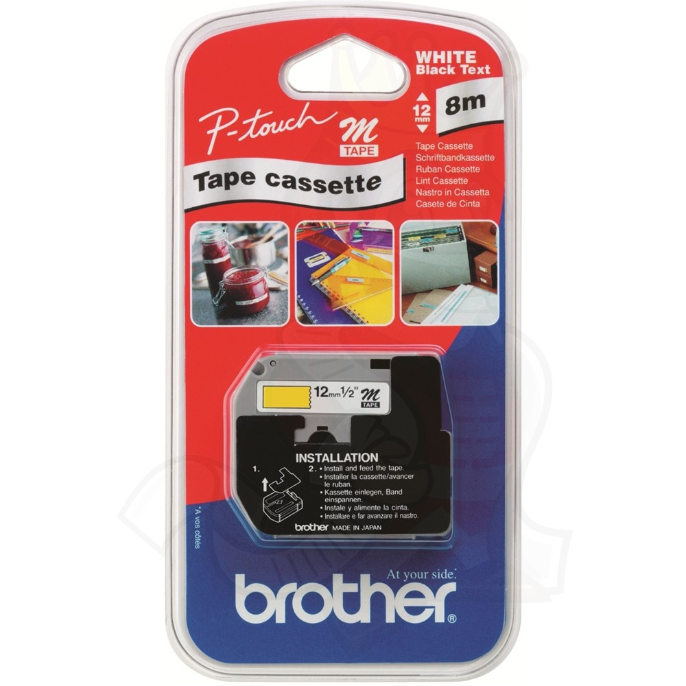 Brother Blk/Yel 12mm Tape MK631BZ