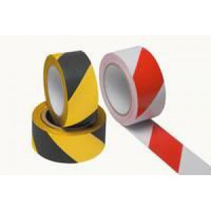Ambassador Vinyl Tape Hazard White/Red 50mm x 33Metres PVC-50-22-HAZWR