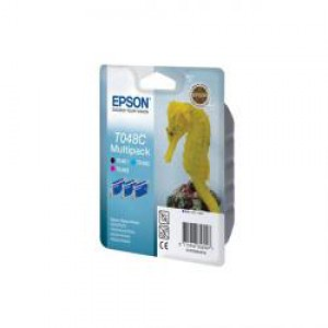 Epson T048C C/M/Bk Cartridge Pk3