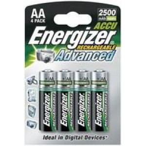 Energizer Rechargeable Battery AA 2000 MaH Pack of 4 627916