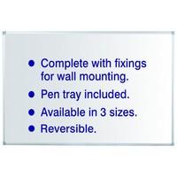 Initiative Drywipe Board Non-Magnetic Whiteboard 1200mm x 900mm KF37016