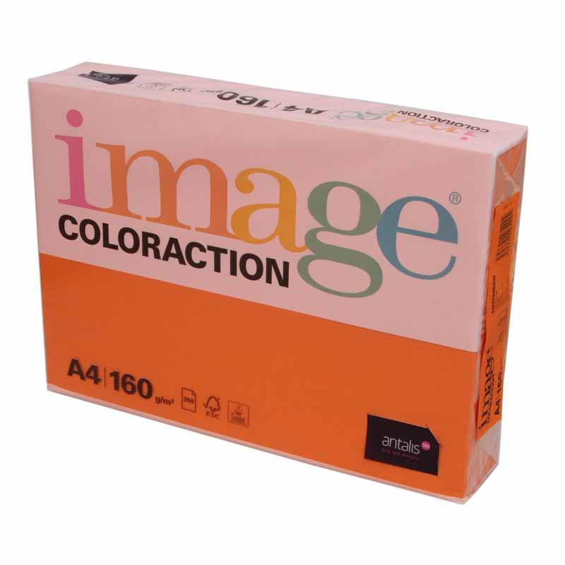 Coloraction Paper Deep Orange FSC4 A4 80g Pk500
