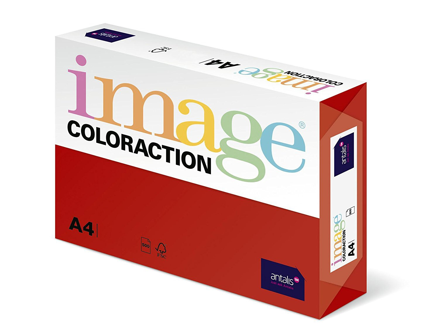 Coloraction Paper Deep Red FSC4 A4 160g Pk250