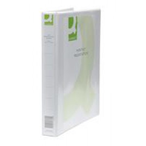 *Q Connect Presentation 4D-Ring Binders 25mm A4 White Pack of 6 KF01325Q (933012)