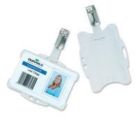 Durable Dual Security Pass Holder with Badge Reel Pack of 10 8224/19